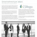 """""""Verantwortungsvolles Unternehmertum leben"""" in 'Oberfränkische Wirtschaft' im November 2012"""