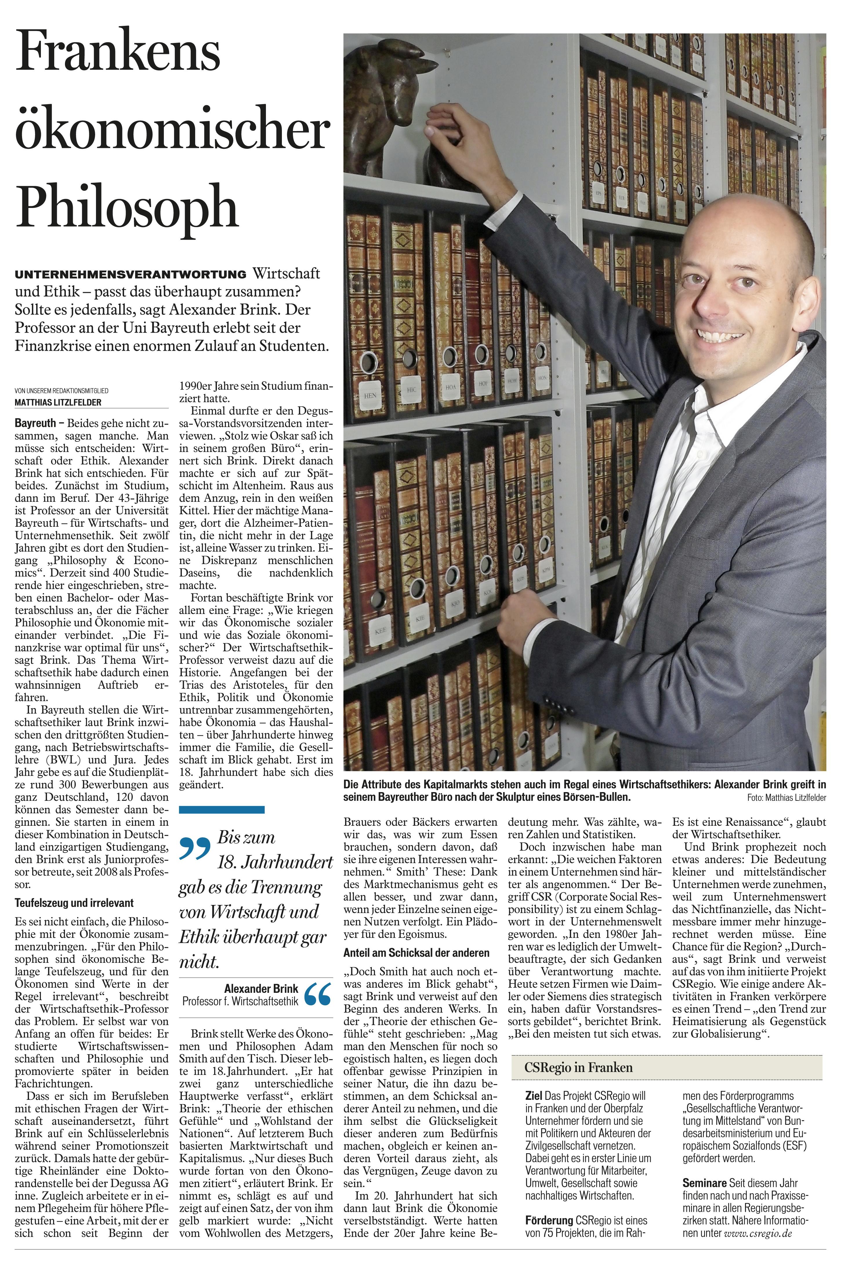 CSRegio | Mediengruppe Oberfranken | Frankens ökonomischer Philosoph