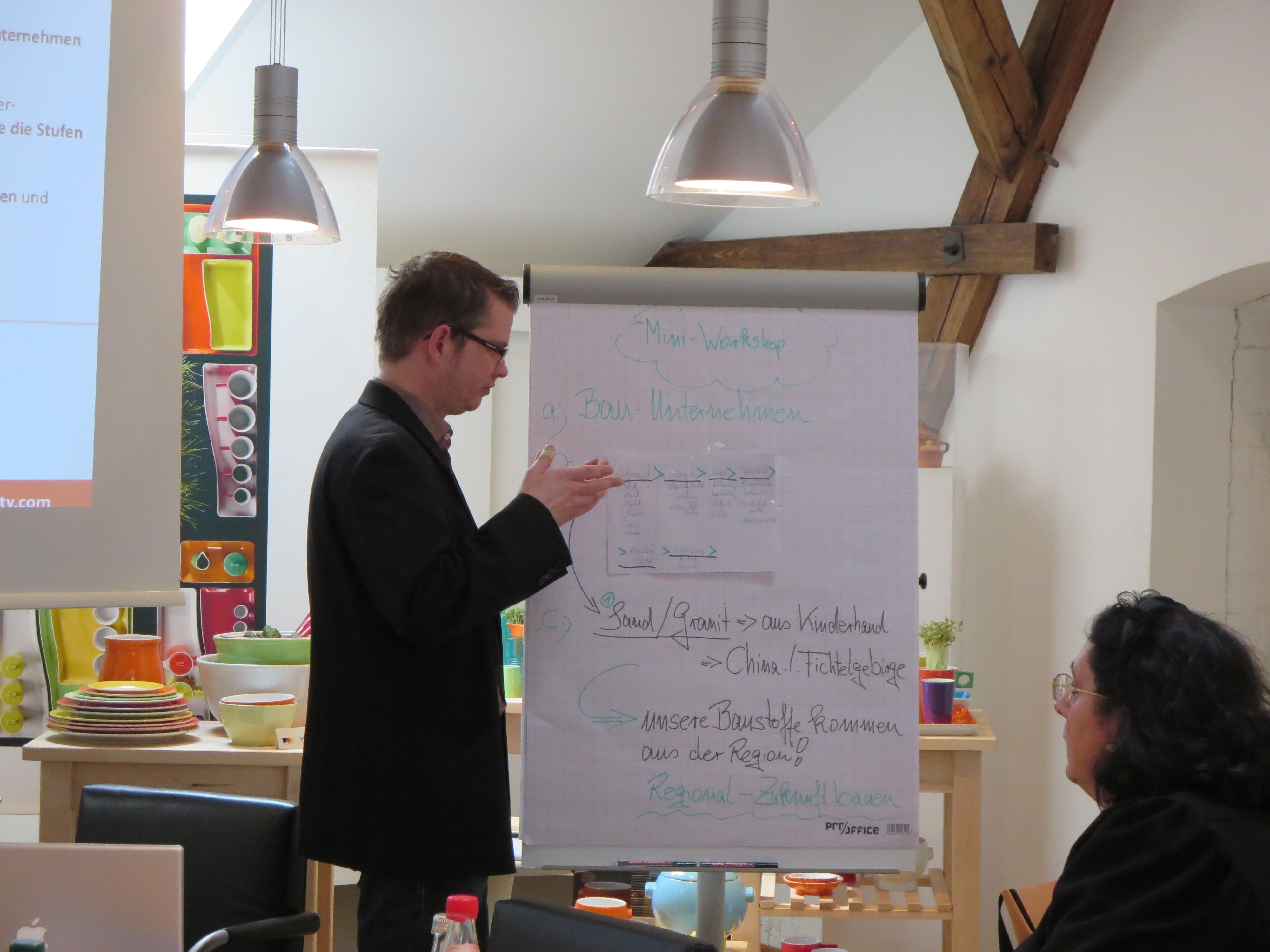 Teilnehmer arbeiten gemeinsam an CSR-Themen