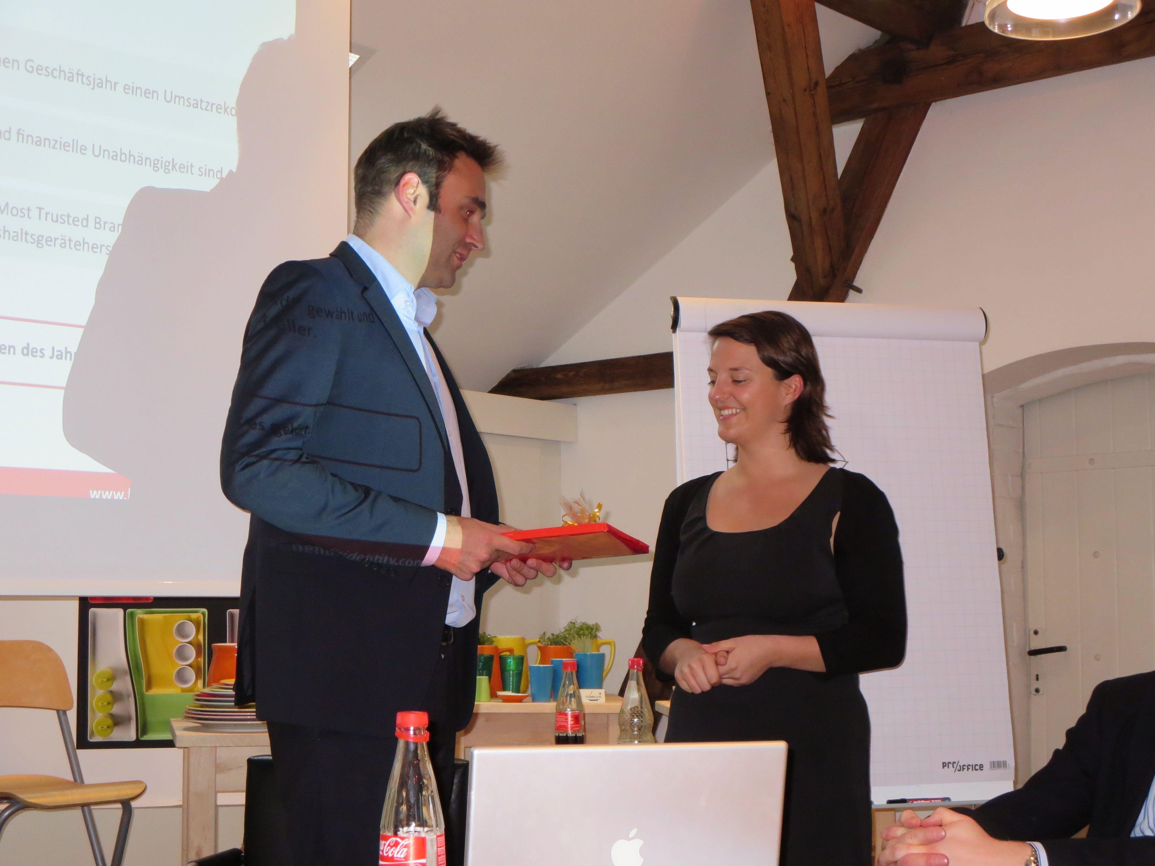Patrick Bungard von CSRegio und Jana Hepperle von Benefit Identity