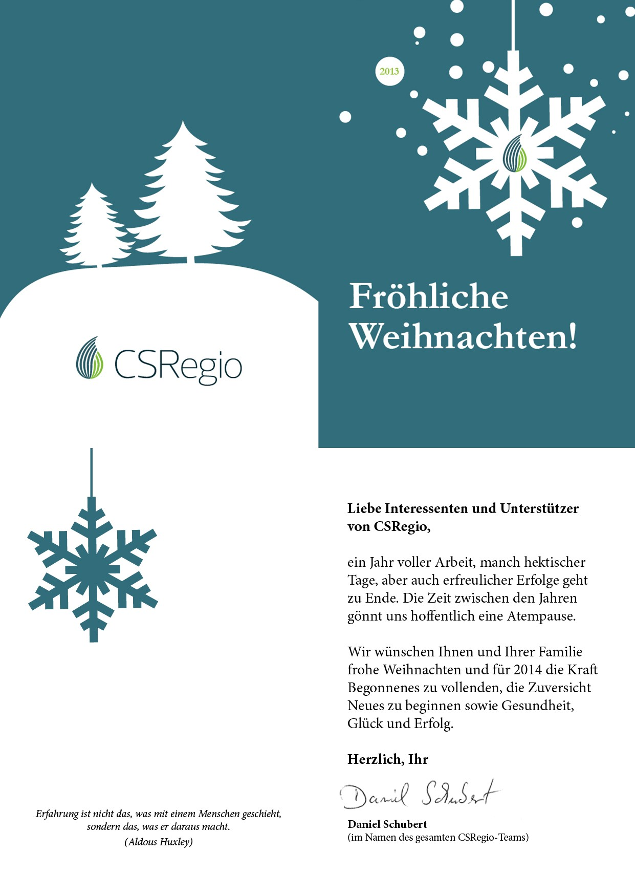 CSRegio_Weihnachtsgruß_2013
